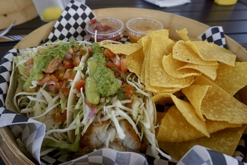Fish Tacos at Waves!