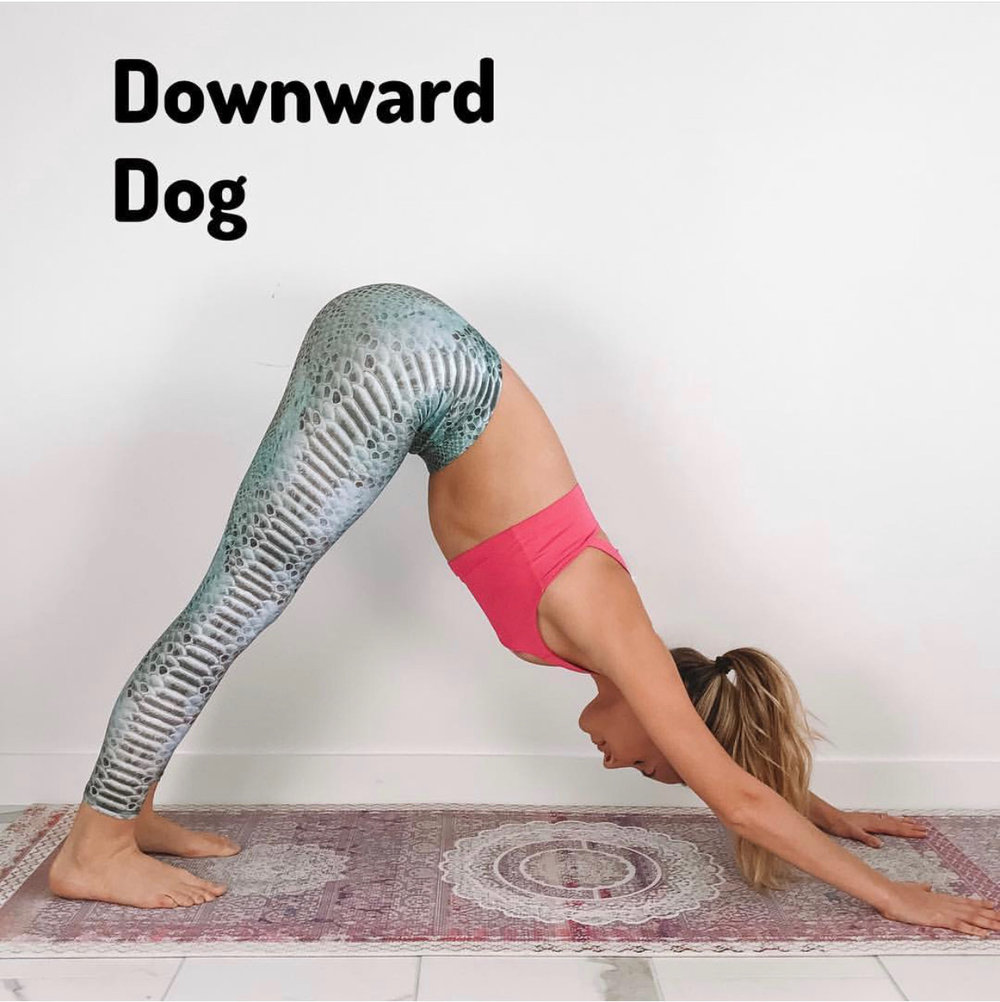 1. Downward Dog x 30 seconds (3x)