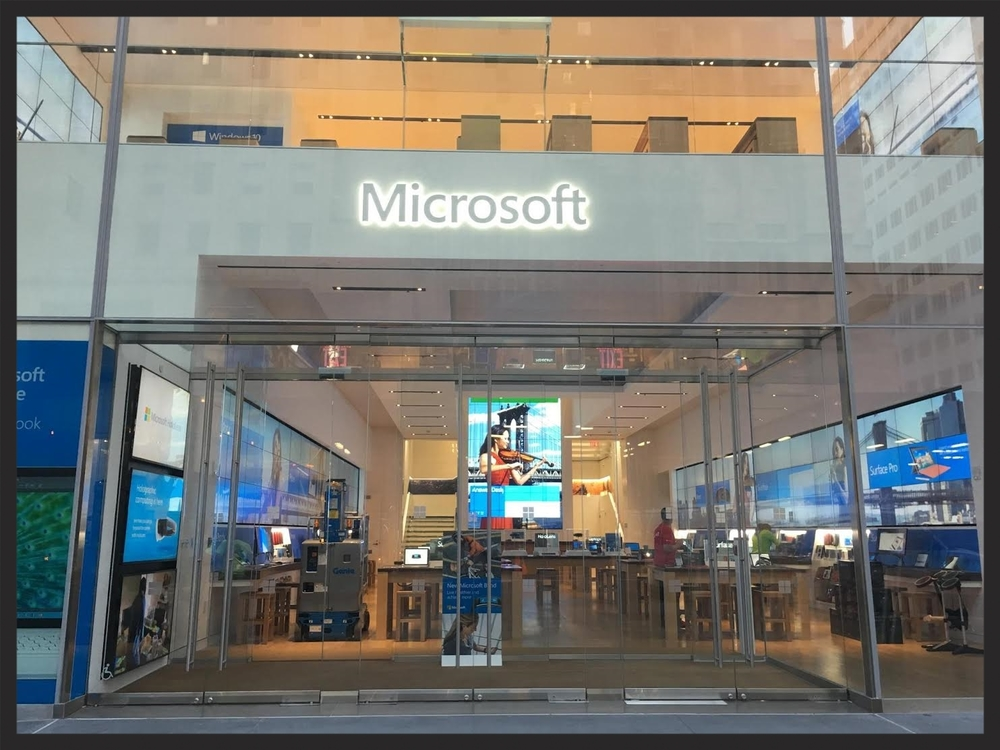 Microsoft Flagship Store in Manhattan.   Product:  Blasi In-Ground Drive  Sliders