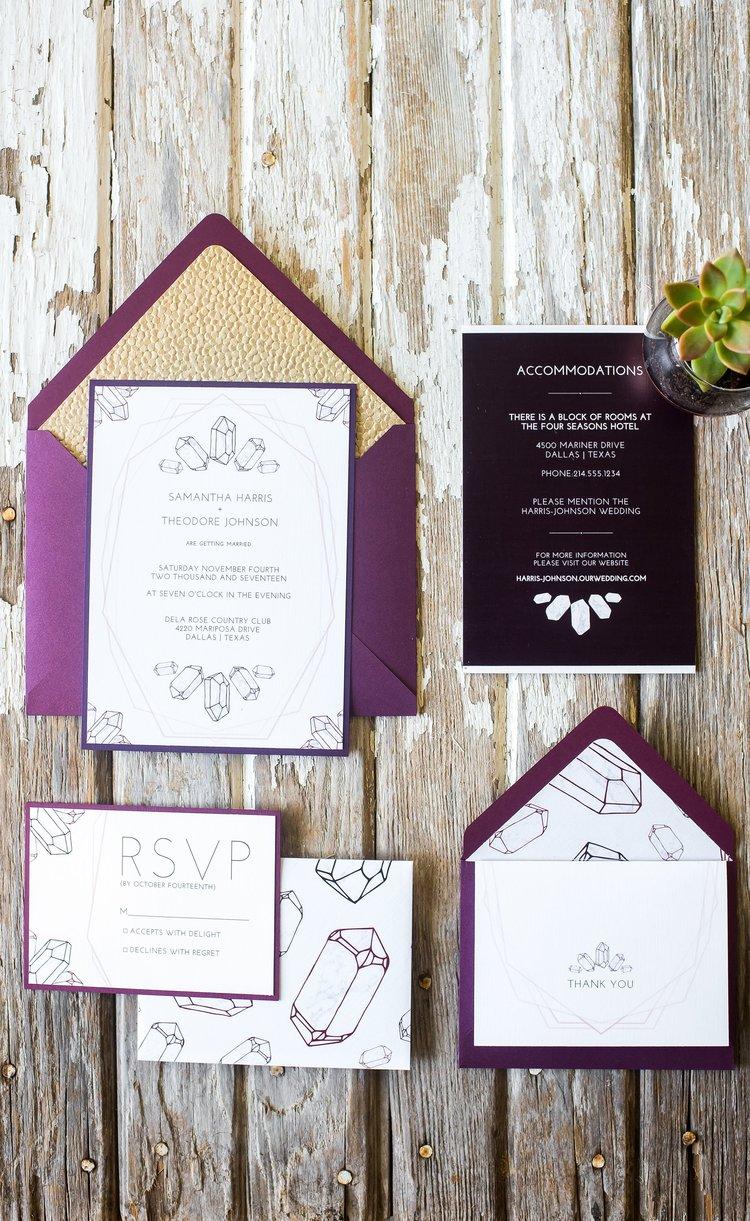 Gemstone bohemian hands of hollis fine art stationery wedding gemstone bohemian wedding suite hands of hollis wedding stationery designer dallas tx stopboris Choice Image