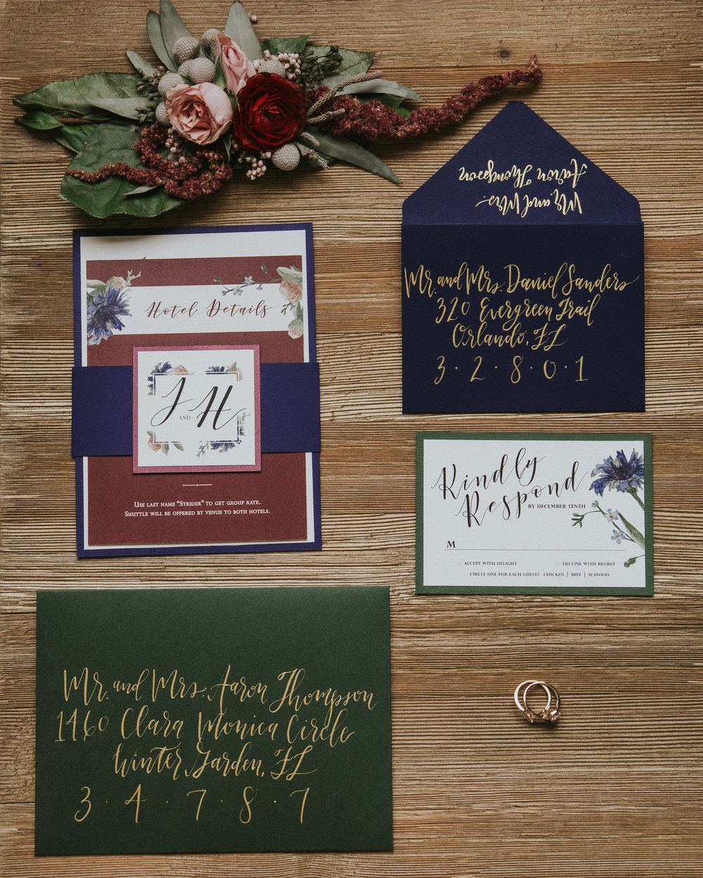 whimsical elopement hands of hollis wedding stationery design