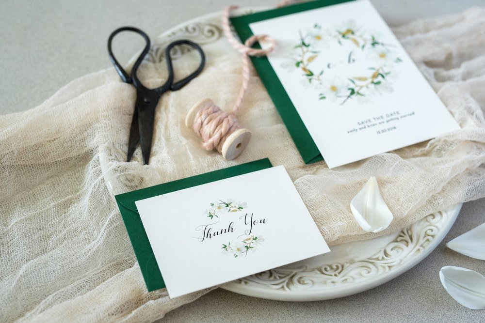 Diy stying board, hand-dyed cheesecloth, and clearance bin spool and scissors make for one gorgeous and affordable styled shot. Photo by Lexie Faucher Photography