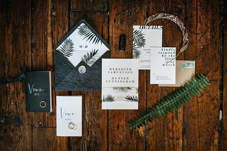 Hands of Hollis Fine Art Stationery + Design Wedding Invitation Suite