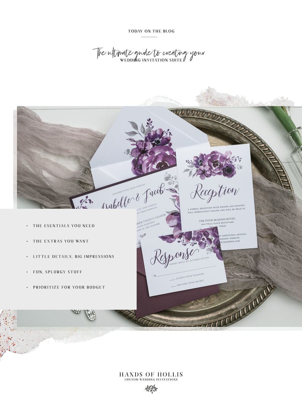 Ultimate Guide to Wedding Invitation Suite from Hands of Hollis in Dallas, Texas