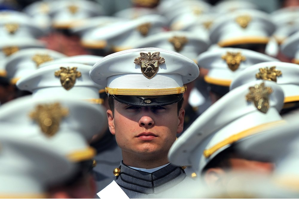 A West Point Cadet at graduation