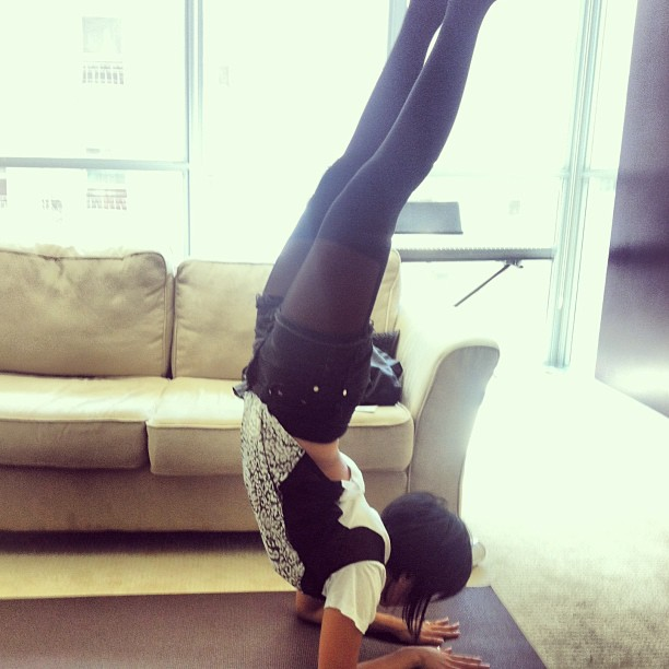 I've already posted this on every other social media channel, but just for good measure, here's me doing a forearm stand.     ❤ yoga.