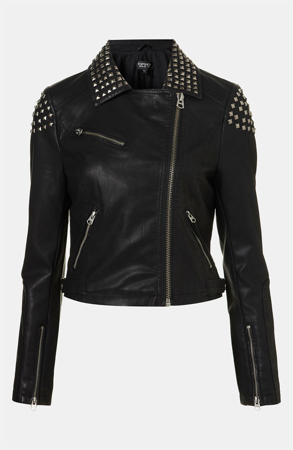 I own this now. My life is complete, I can wear an entire outfit covered head-to-toe with studs.     (side note: it's also acceptable to own three pairs of faux leather pants, right?)    I don't know what these things say about me as a person.