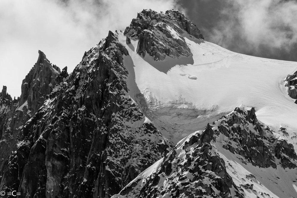 Skiing the Aiguille du Noir. Photo: Cedric Bernardini