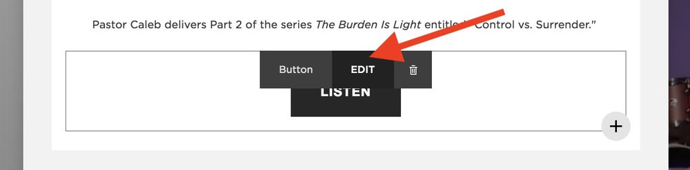 Step 8 - Hover over the Listen button and click edit.