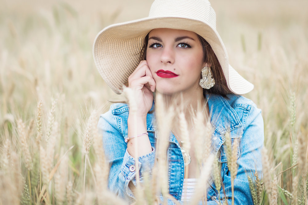 high school senior wheat field - boquet beach portraits - silverhill alabama