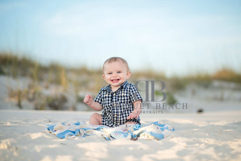 9 month old baby beach pictures at the Perdido Pass in Orange Beach Alabama