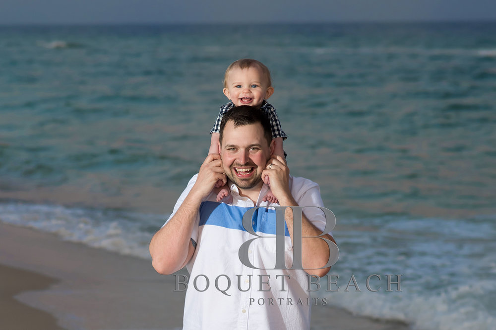 Daddy and son beach pictures at the Perdido Pass in Orange Beach Alabama