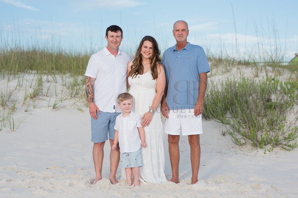 Family of 4 beach pictures in Orange Beach Alabama
