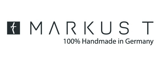 MARKUS T glasses are made of high quality titanium or from the patented light synthetic TMi. They are distinctive or filigree, subtle or expressive in colour design. Each MARKUS T model is as individual as its wearer. Not only the shape or colour of the glasses are individual – MARKUS T glasses are created with heart and soul and are handcrafted.Have a look at more than 14,000 possible combinations of shape, temple and colour with their glasses configurator on their website (click logo to enter site).
