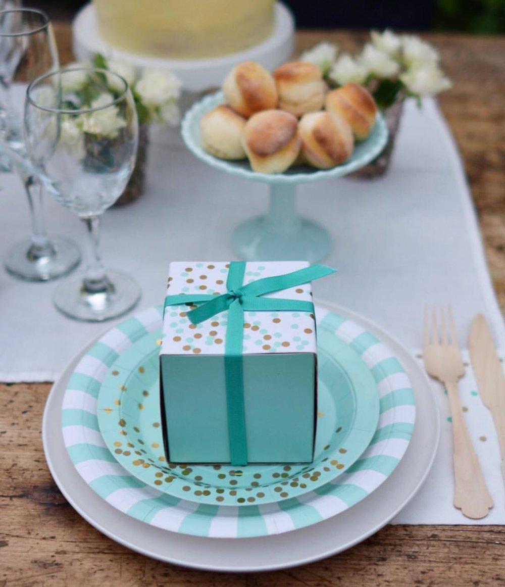 Mint Confetti Party Tableware