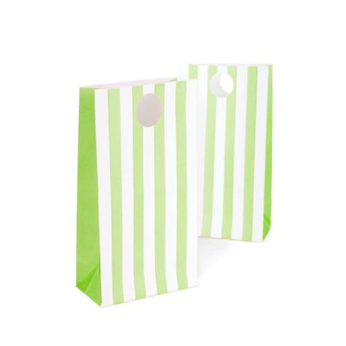 Green and White treat bags