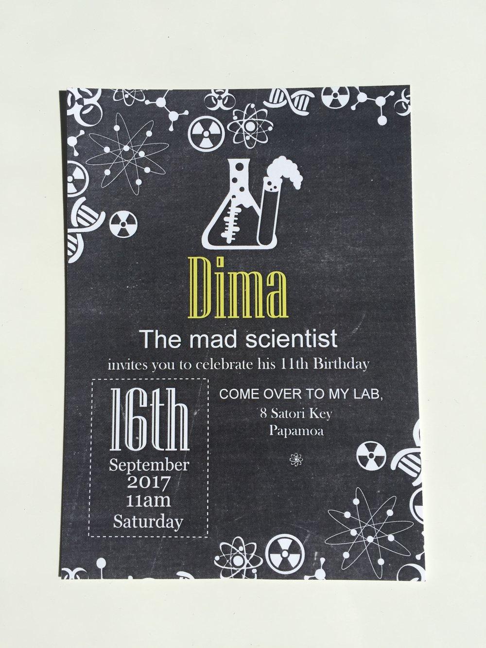 Ice Cream Lab Party Invitation