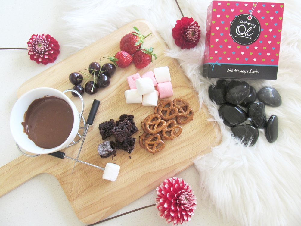 Valentines Date Night Box Fondue for two