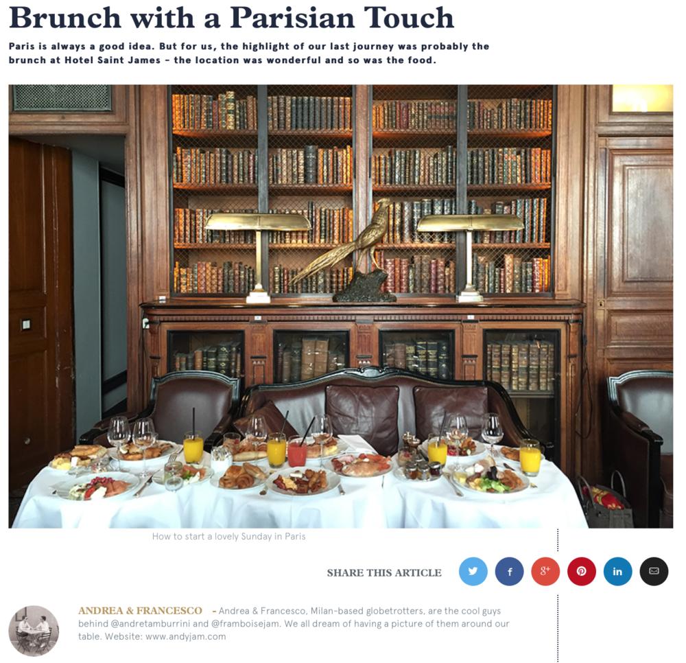 Relais & Châteaux : Brunch with a Parisian Touch