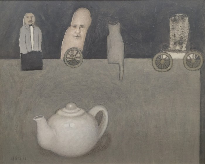 Helene Grove, White Teapot, 2006, synthetic polymer on board