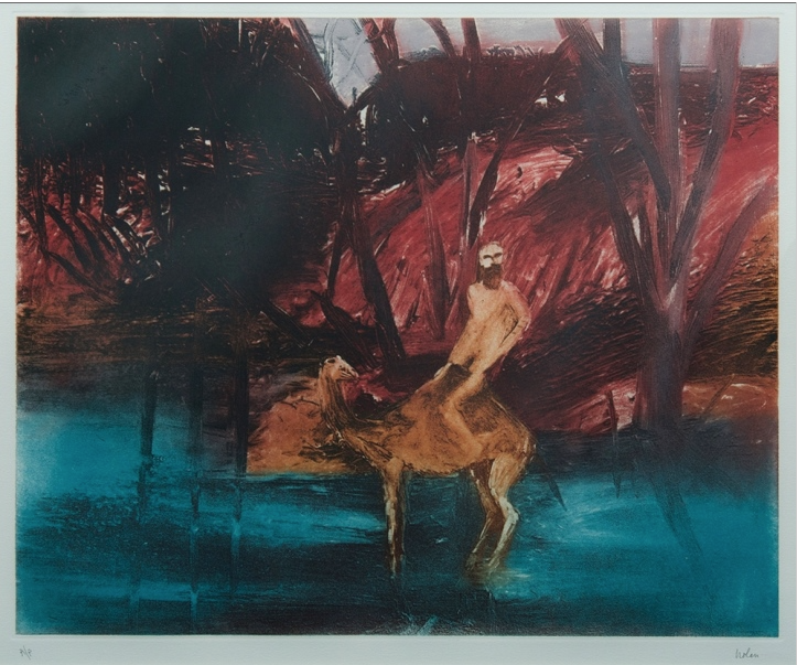 Sidney Nolan (1917-1992), Burke in the River: from Burke & Wills series, c.1961, Lithograph A/P.