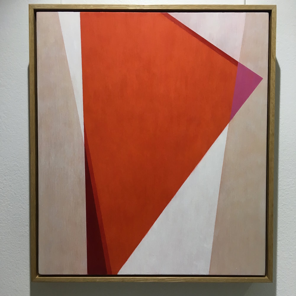 Celia Gullett, Geometric Abstraction XXI, 2017, oil on panel.