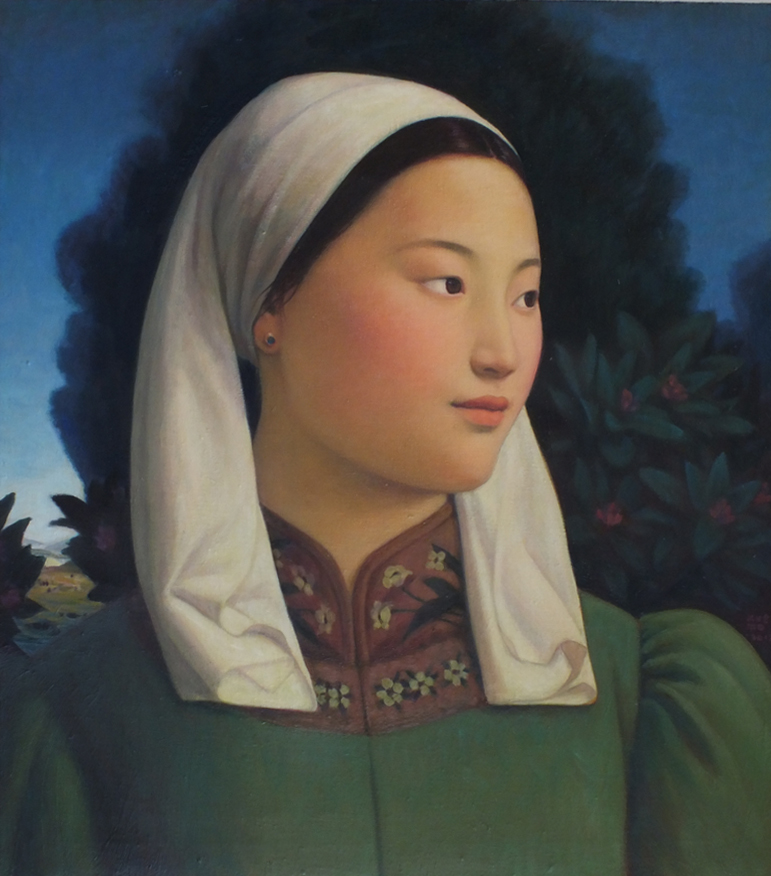 Mongolian Girl, 2012, oil on linen, 75.5 x 66cm.jpg
