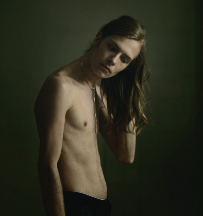 Tamara Dean,  Conor , from the 2015 series ' About Face' . Image courtesy of the artist and Martin Browne Contemporary, Sydney.