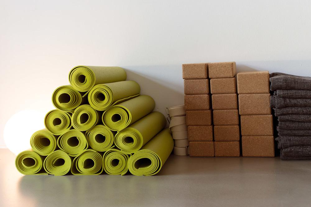 Yoga Blocks and matts at Yoga Rebellion Berlin