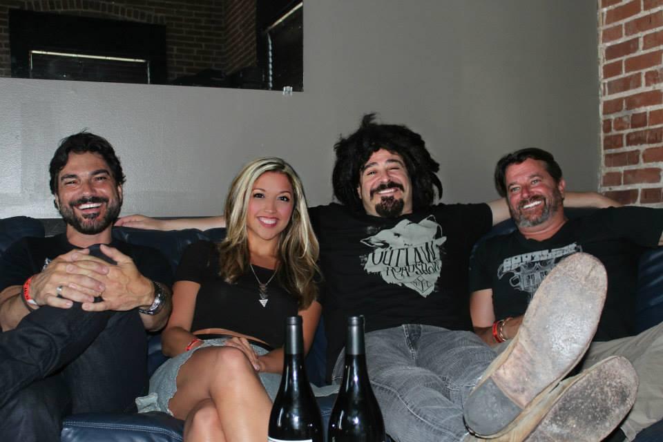 Felipe Molina, Me, Adam Duritz, & John Wright
