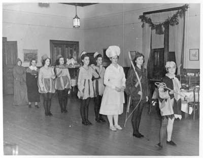 A Boar's Head Festival at the Ontario Ladies College of Whitby, Ontario in 1941