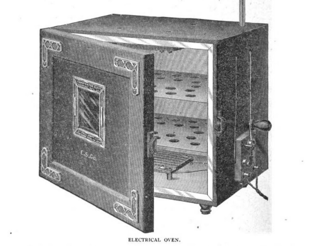 The electrical oven sent to Helen Louise Johnson by the American Electrical Heating Corporation