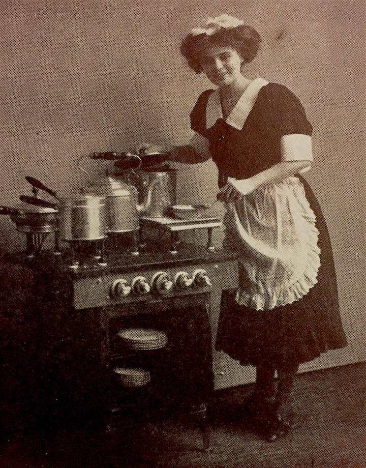 Cooking with Lightning: Helen Louise Johnson's Electric Oven Revolution     Discover the untold history of electricity in the kitchen. Although the earliest electrical ovens were cooking banquets by 1892, the average North American consumer was slow to adopt the new technology. With only a tiny percentage of homes wired by 1900, electricity in the kitchen had a long road to go before the countless toasters, coffee makers, blenders, and food processors of today's modern kitchen. Learn how one early domestic scientist, Miss Helen Louise Johnson, became the Rachel Ray of electrical cooking in the late 19th and early 20th century. Whether cooking steaks at the Chicago World's Fair in 1893 or baking bread on stage in Brooklyn in 1900, Helen Louise Johnson showed a culinary future powered by current.