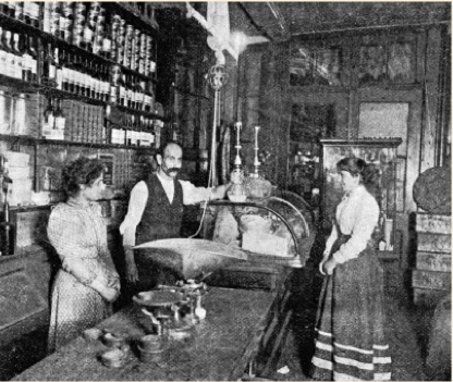 Interior of Sahadi's Grocery Store, Courtesy of the  New York Times , 1899