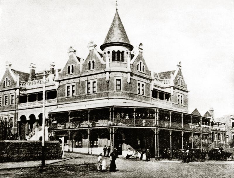 Hotel Esplanade in Perth, Australia. Circa 1890s.