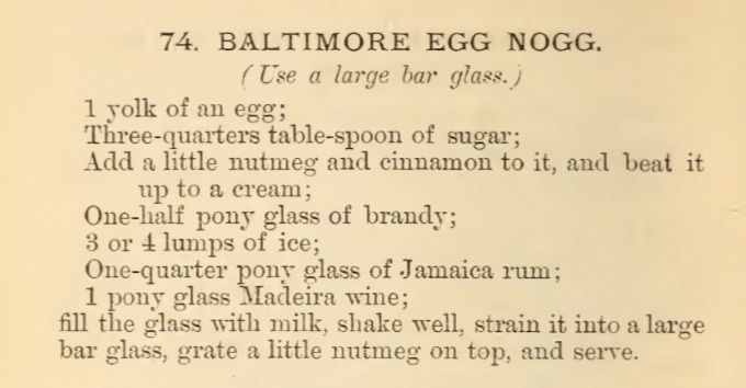 Courtesy of  Harry Johnson's  The New & Improved Bartender's Manual  (1882)