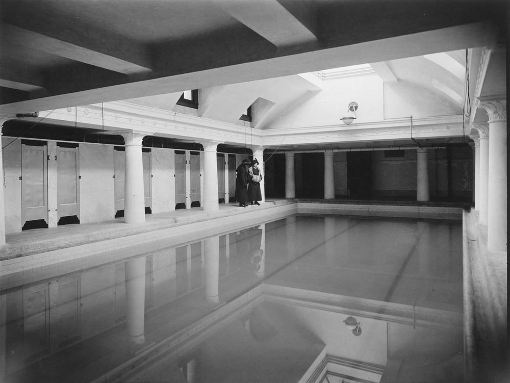 "The basement pool in the Household Science building, fondly known as ""the bathtub"""