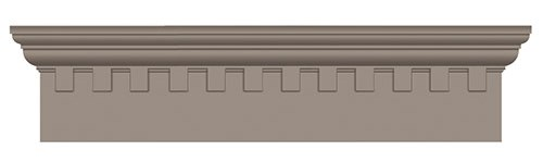 Classic Dentil - With their interesting geometry and shadows, classic dentil details have been popular for centuries.