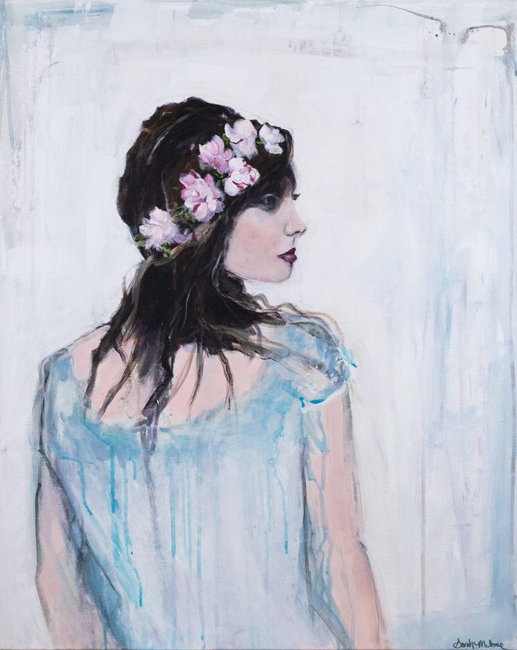 """Corona di Fiori"" , 30 x 24 inch, acrylic on canvas, 2015"