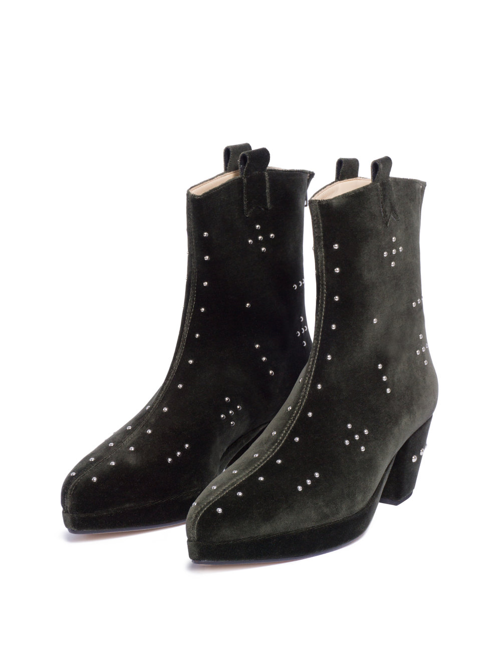 RANI BAGERIA X ENSOIE CROSS HIGH ANKLE BOOTS VERDE    € 415.00