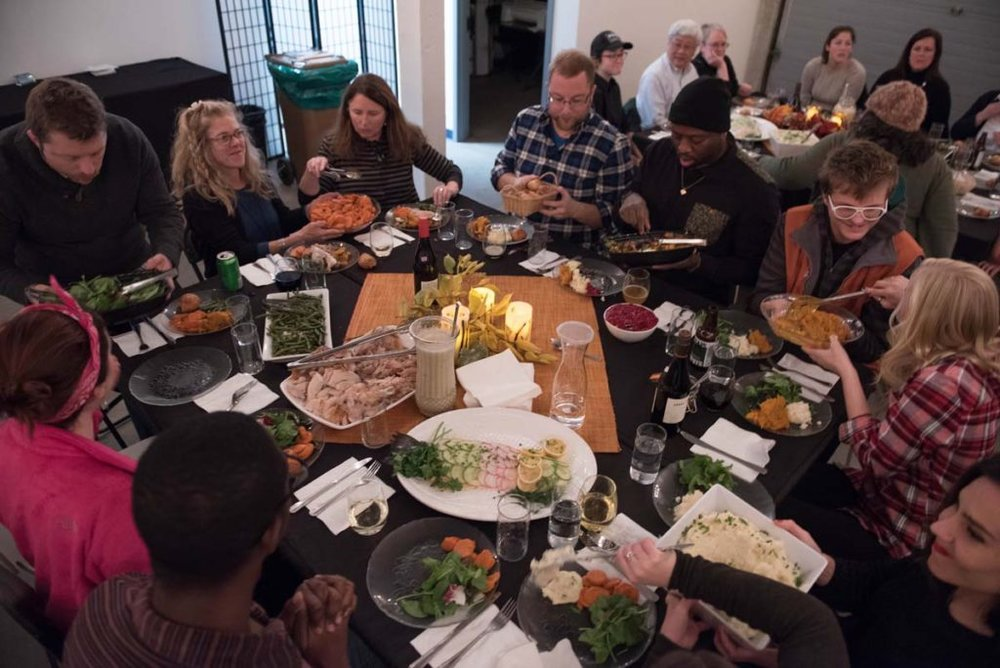 Friendsgiving event - Photo courtesy of Dave Dostie, Maine Magazine