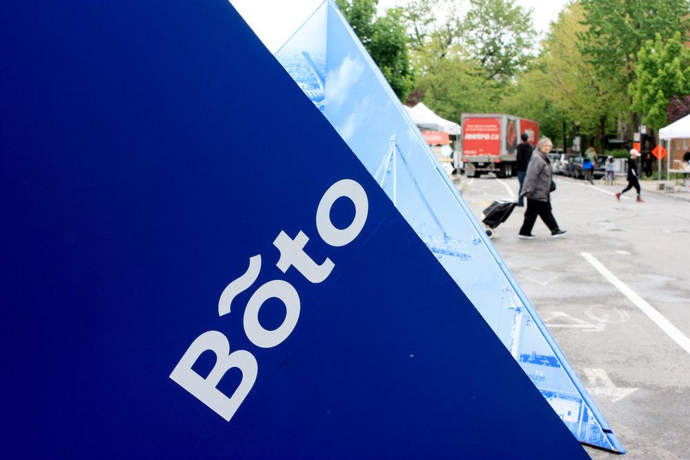 Installation BotoOpération patrimoine de Montréal -