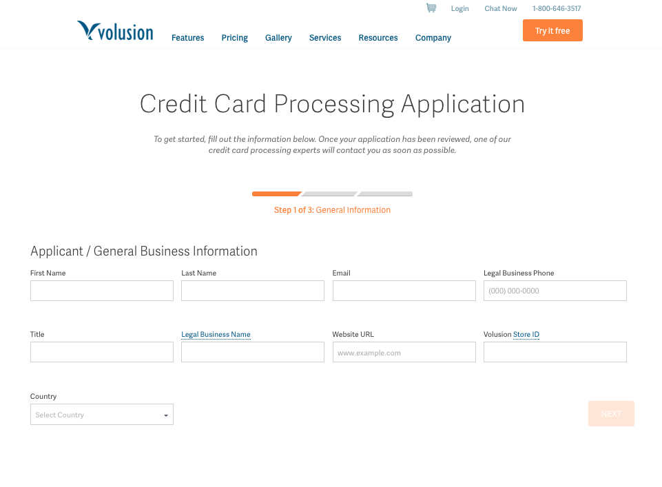 Form   Creditcard Processing   VMS Application   Volusion.png