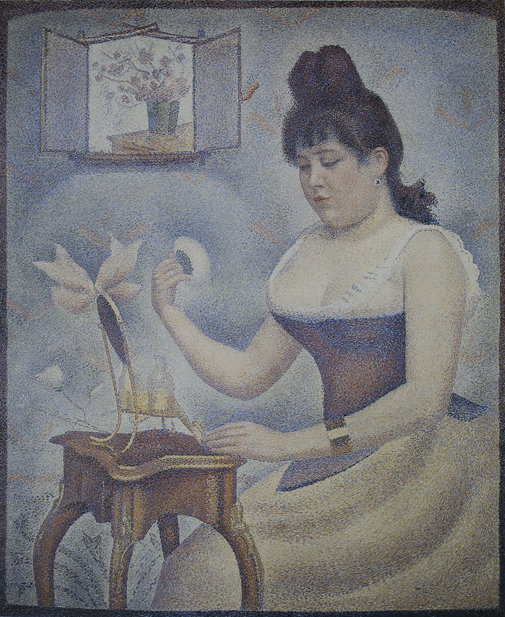 young woman powdering herself 189- 1890 courtauld institute of art, london