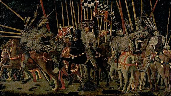 paolo uccello   THE BATTLE OF SAN ROMANO 1455    louvre, paris
