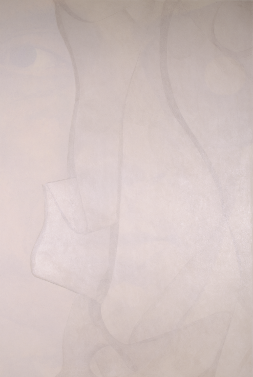 "Side #A…JEAN ARP 2016-17 © inspired by:- photographer not known (black & white); oil pastel, color pencils ON PAPER  49.5"" x 73.5"" [125.73 cm x 186.69 cm]"