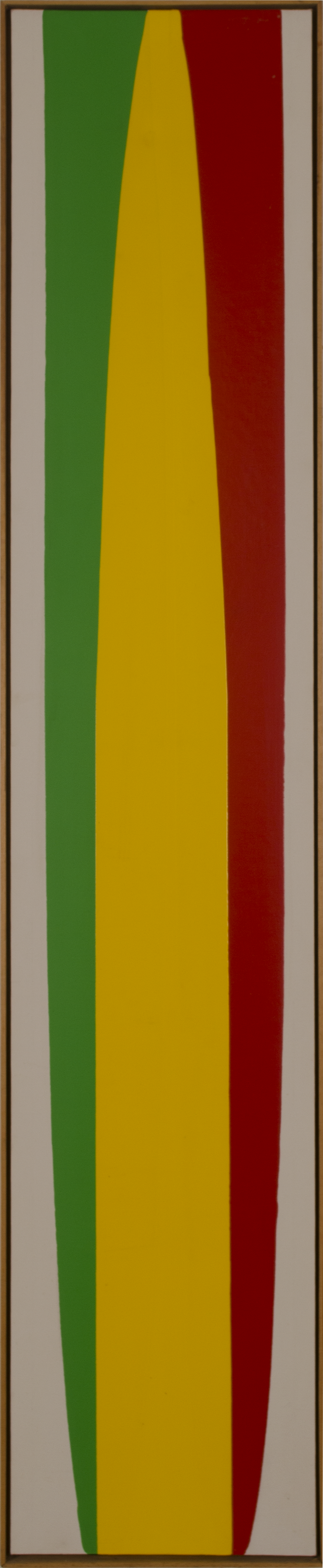 GREEN YELLOW RED 1974 ©acrylic paint on primed canvas