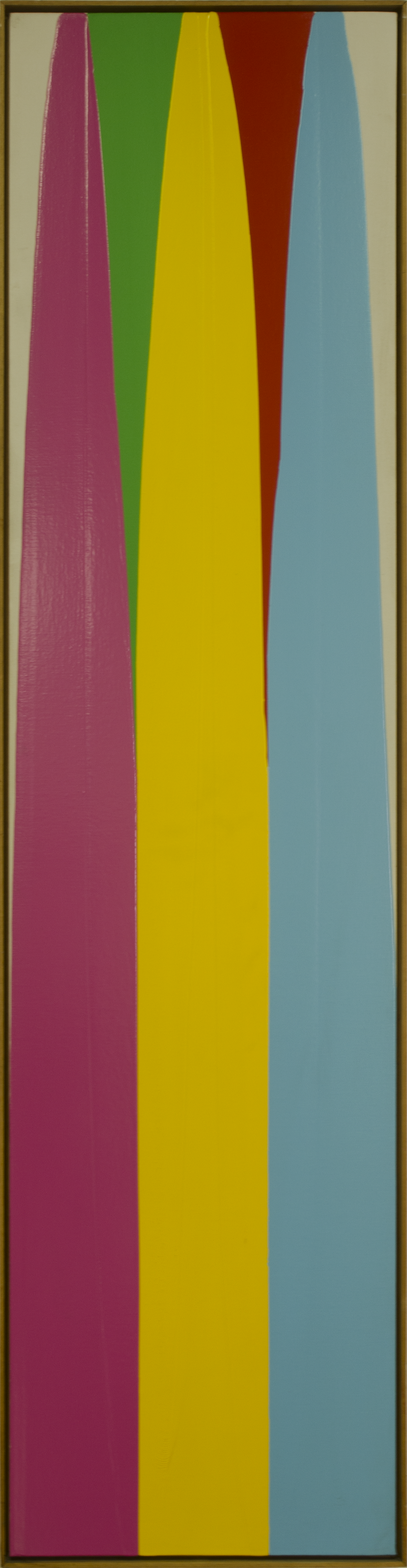 POUR- MAGENTA GREEN YELLOW RED CYAN1974 ©acrylic paint on primed canvas