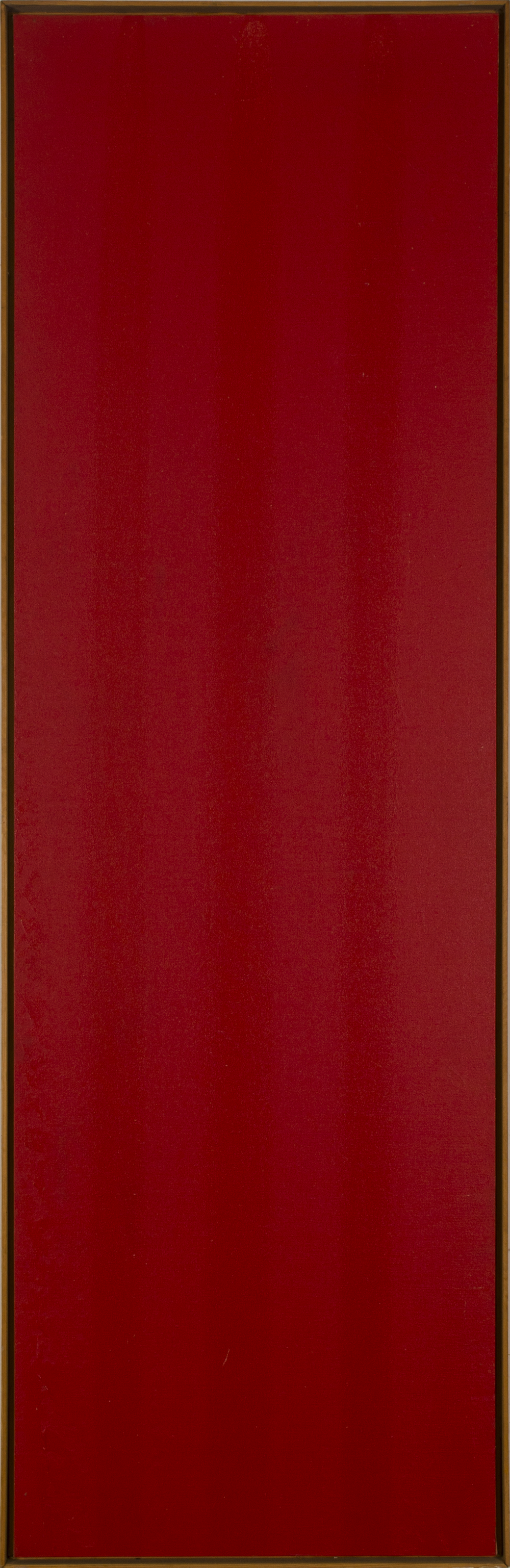 POUR- RED RED 1974 ©acrylic paint on primed canvas