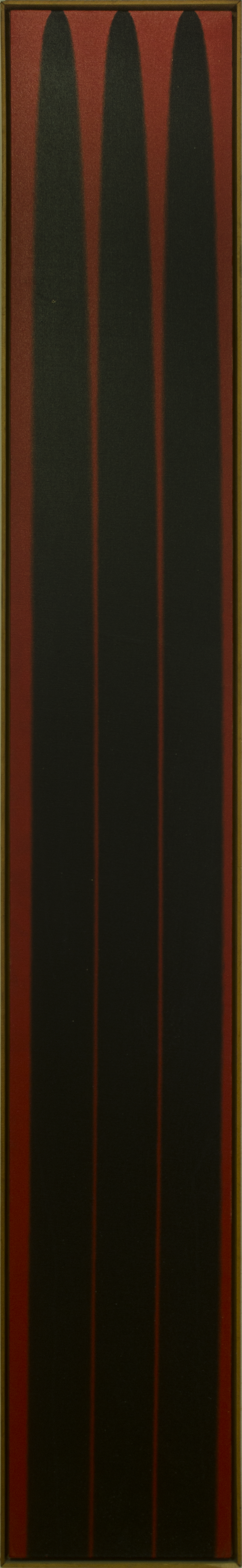 POUR-BLACK RED1974 ©acrylic paint on primed canvas